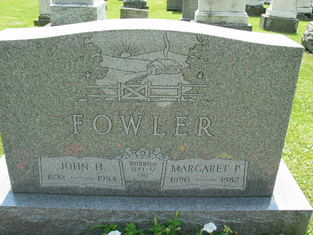 John and Margaret Fowler tombstone