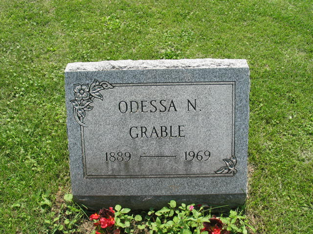 Odessa Grable tombstone