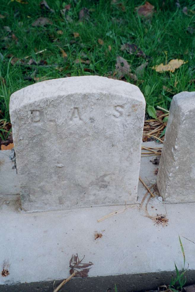 D. A. S. footstone