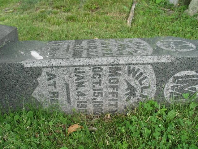 William Moffitt tombstone