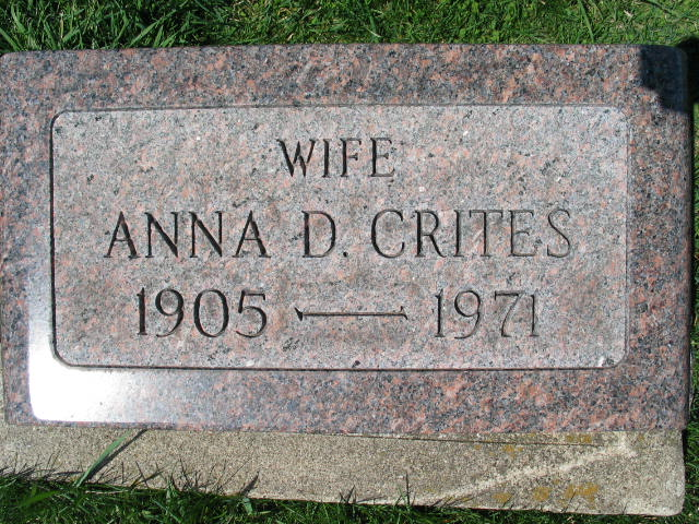 Anna D. Crites tombstone