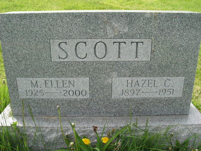 M. Ellen and Hazel C. Scott tombstone