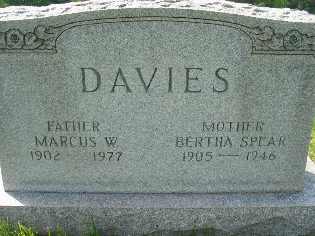Marcus W. and Bertha Spear Davies