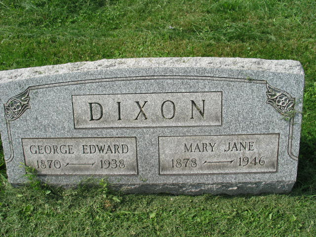 Geroge Edward and Mary Jane Dixon