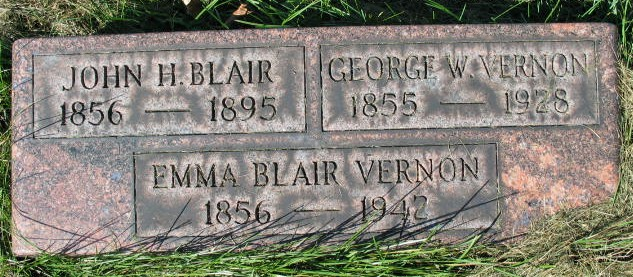 John H. blair tombstone