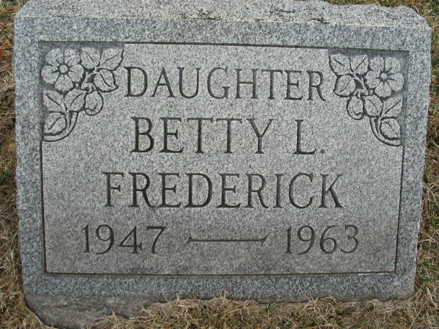 Betty L. Frederick tombstone