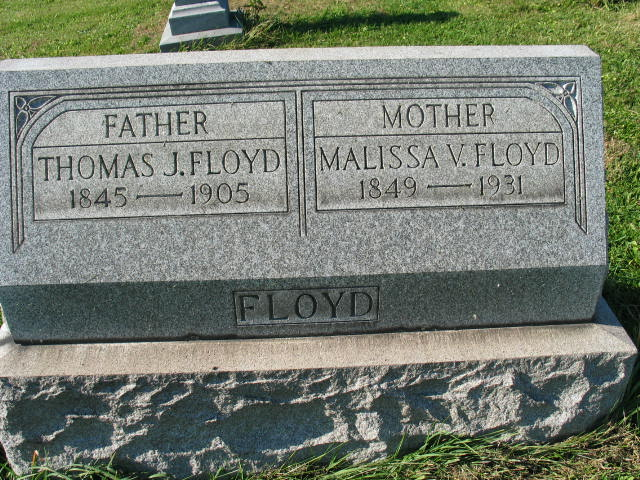 Malissa V and Thomas J. Floyd tombstone