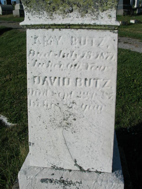 Amy Butz tombstone