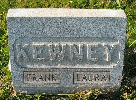 Frank and Laura Kewney tombstone