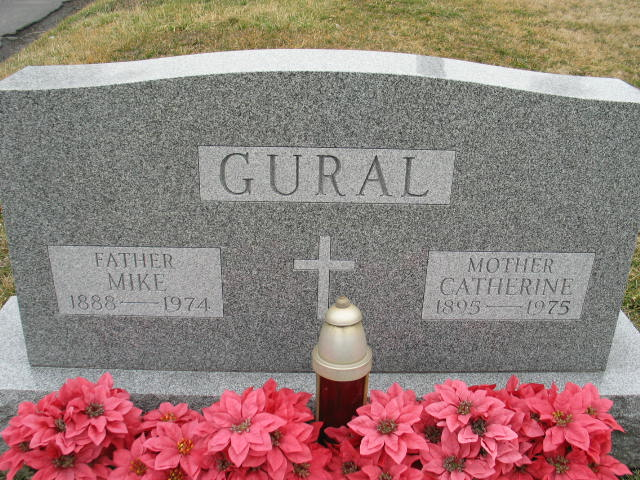 Catherine and Mike Gural tombstone