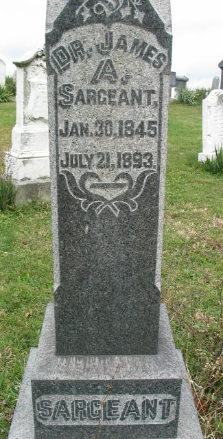 James A. Sargeant tombstone