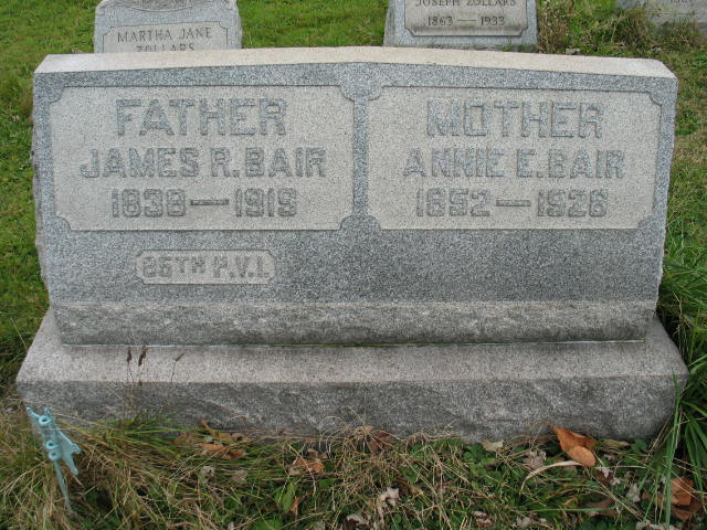James Robison Bair tombstone