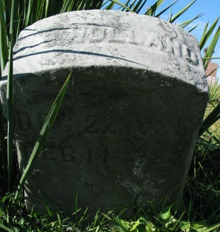 S. B. Holland tombstone
