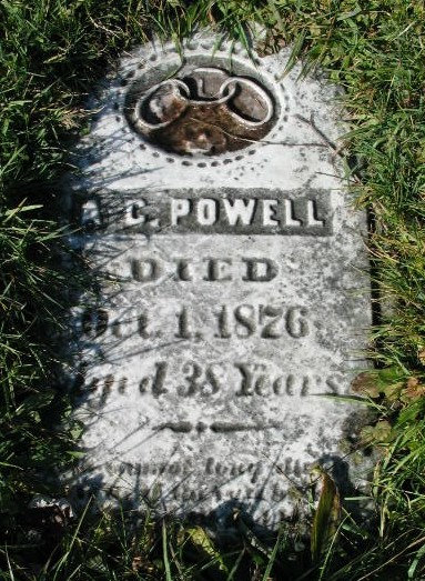 A. C. Powell tombstone