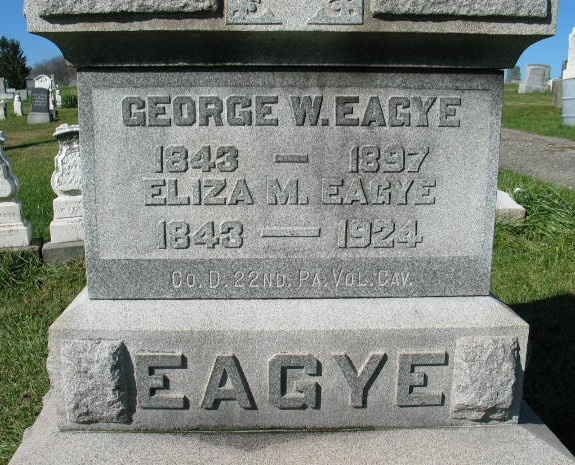 George W. and Eliza M. Eagye tombstone