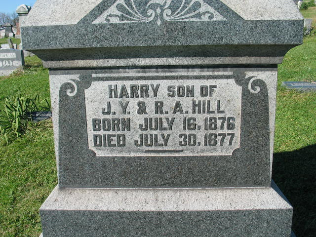 Harry Hill tombstone