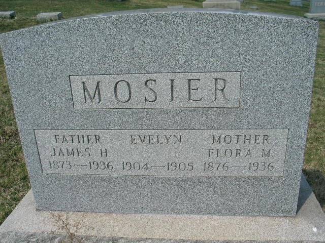 Jamed H. Evelyn, Flora M. Mosier