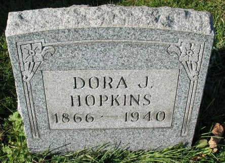 Dora J. Hopkins tombstone