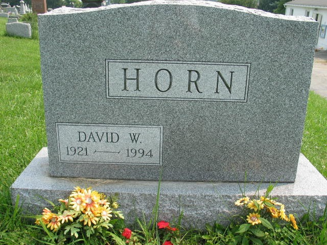 David W. Horn tombstone