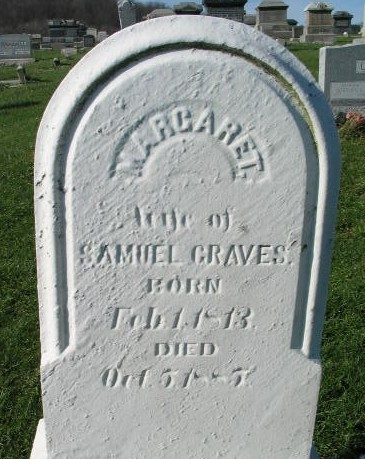 Margaret Graves tombstone
