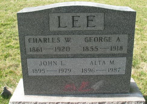 Alta M. Lee tombstone
