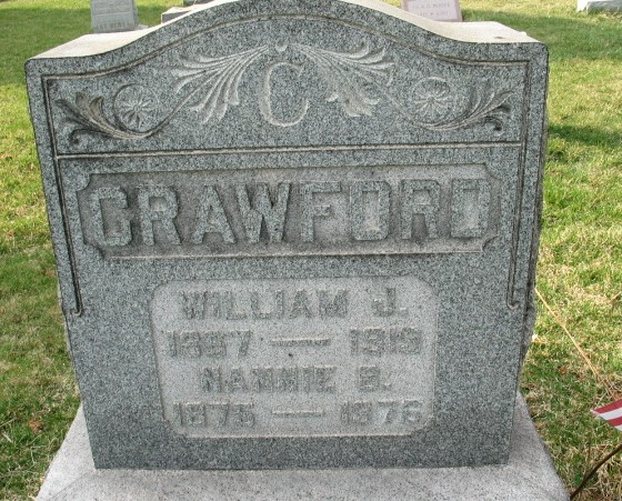 Nannie B. Crawford tombstone