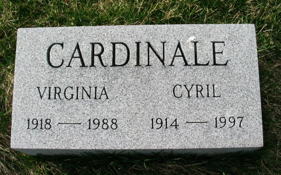 Cyril Cardinale tombstone