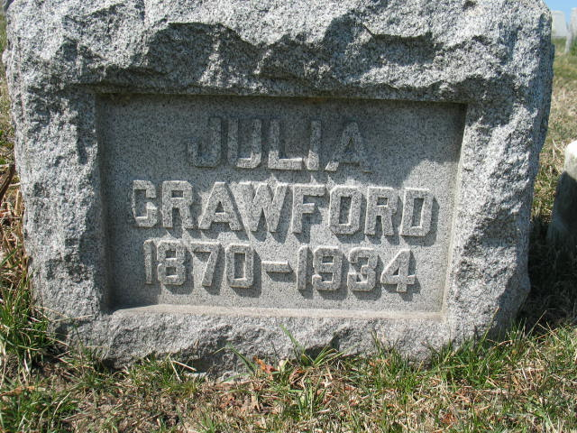 Julia Crawford tombstone
