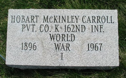 Hobart McKinley Carrol military tombstone