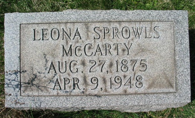 Leona Sprowls McCarty