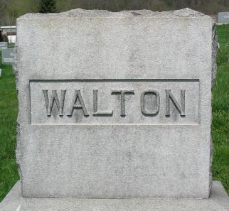 Walton family monument