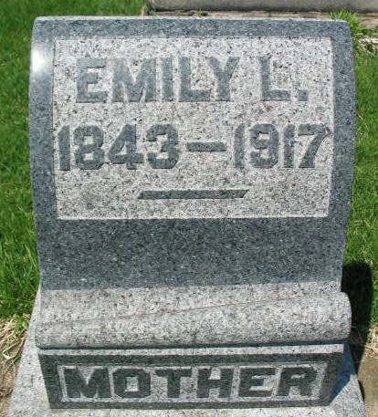 Emily L. Hill tombstone
