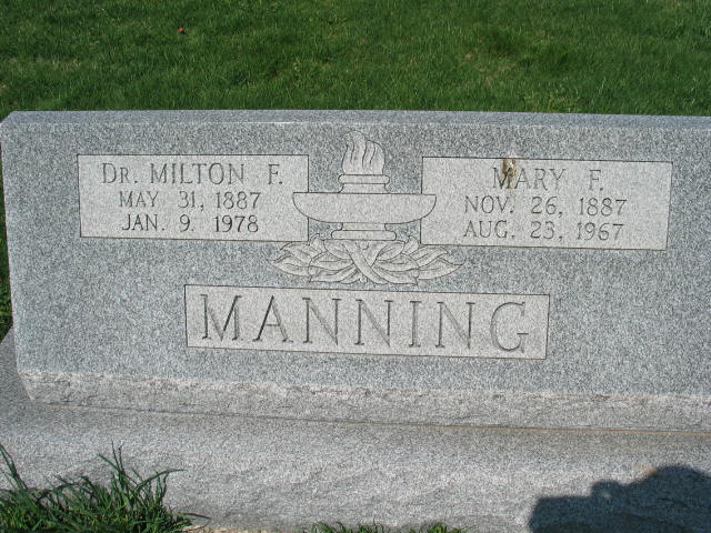 Dr. Milton F. Manning and Mary F. Manning