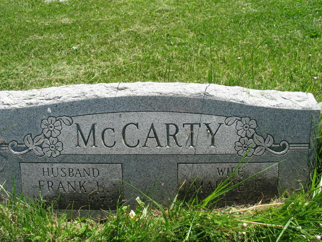 Maude E and Frank L. McCarty