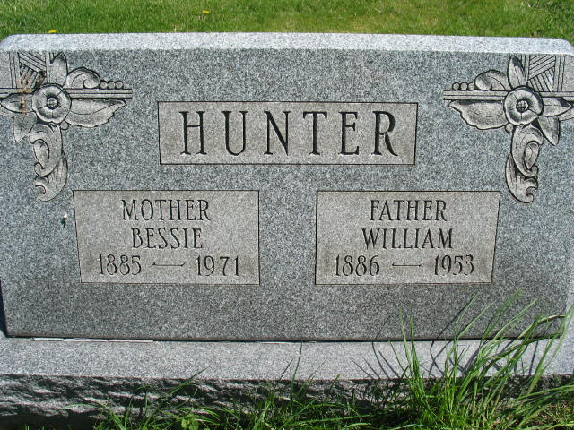 Bessie and William Huntertombstone