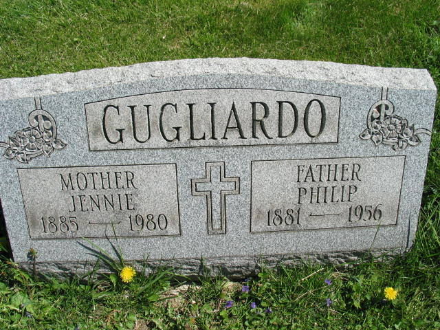 Jennie and Philip Gugliardo tombstone