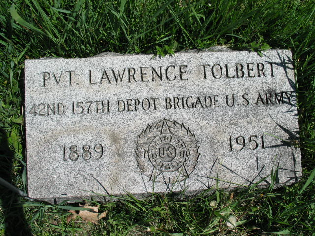 Lawrence Tolbert tombstone