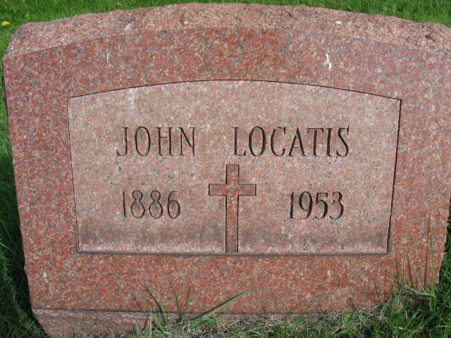 John Locatis tombstone