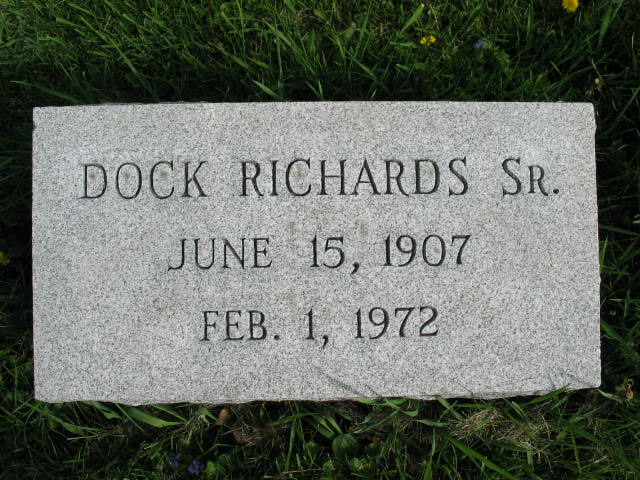 Dock Richards Sr. tombstone