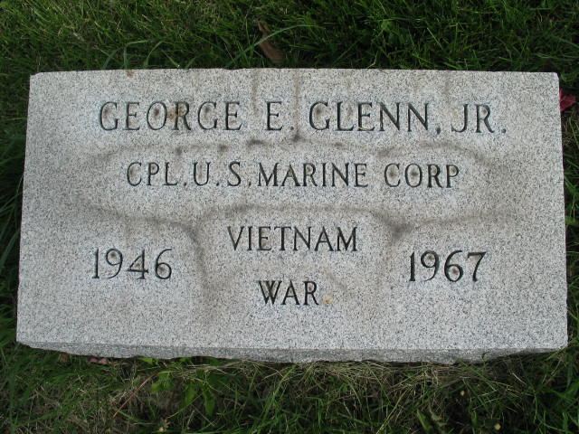 George E. Glenn Jr. tombstone