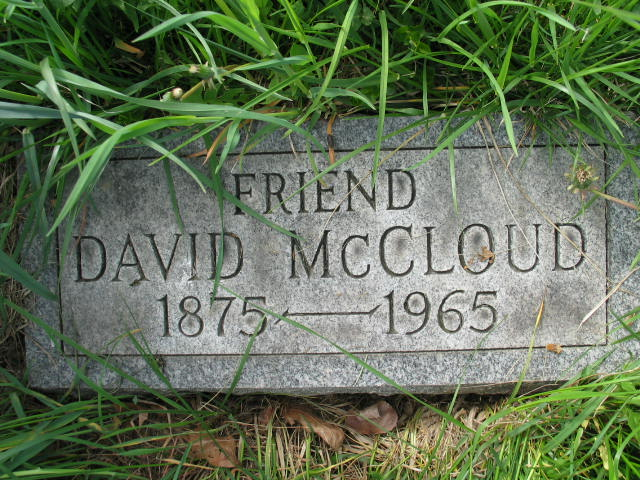 David McCloud tombstone
