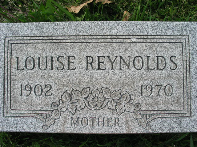 Louise Reynolds tombstone