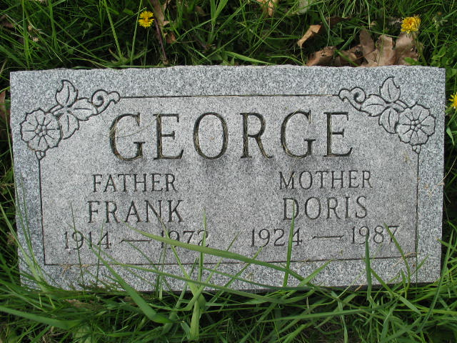 Frank and Doris George tombstone