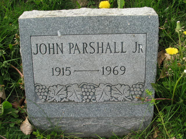 John Parshall Jr. tombstone