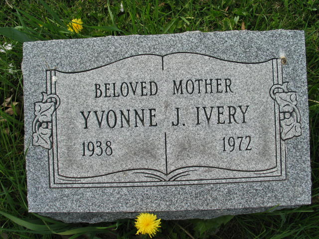 Yvonne J. Ivery tombstone