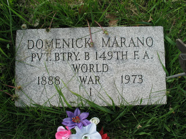 Domenick Marano tombstone