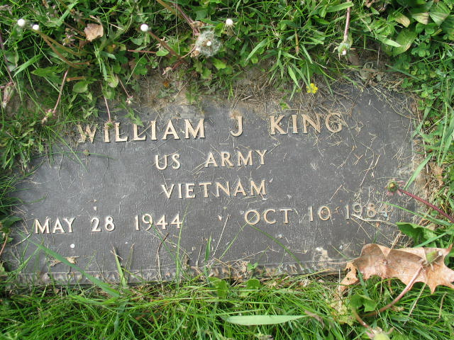William J. King tombstone