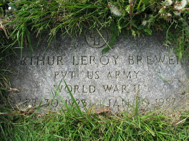 Arthur Leroy Brewer tombstone