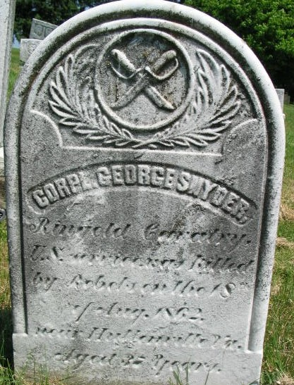 Corpl George Snyder tombstone